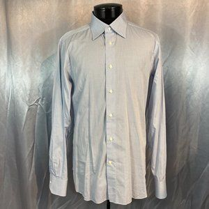 Ermenegildo Zegna mens plaid button down shirt